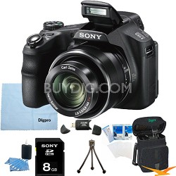 Cyber-shot DSC-HX200V 18.2 MP Exmor R CMOS Camera with 30x Optical 8GB Bundle