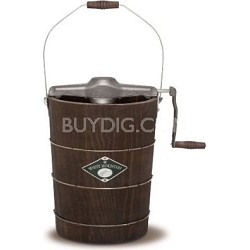 White Mountain 6-Quart Wooden-Bucket Manual Hand-Crank Ice-Cream Maker