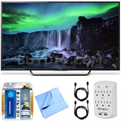 XBR-55X810C - 55-Inch 4K Ultra HD 120Hz Android Smart LED TV Essentials Bundle