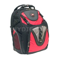 """Swissgear Maxxum Red Backpack Case for Notebooks up to 15.4"""" (Black/Red)"""