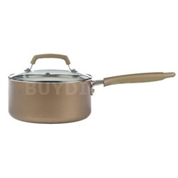 Pure Living 3-Quart Sauce Pan in Champagne - C9442474