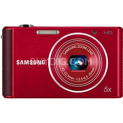 ST76 16 MP 5X Compact Digital Camera - Red