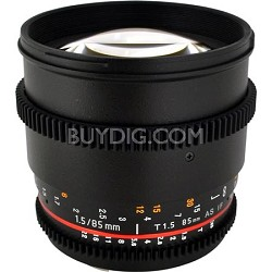 85mm T1.5 Aspherical Cine Lens for Canon EF Mount
