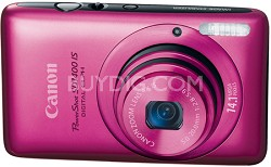 PowerShot SD1400 IS Digital 14.1 MP ELPH Digital Camera (Pink)