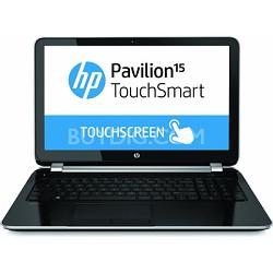 "Pavilion TouchSmart 15.6"" HD 15-n040us Notebook PC - Intel Core i3-4005U Proc."