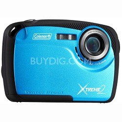 "16MP Waterproof Digital Camera with 2.5"" LCD Screen HD Video (Blue) C12WP-BL"