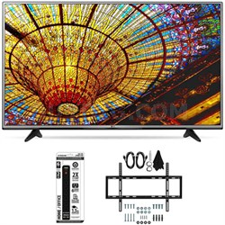 55UH6030 - 55-Inch 4K UHD Smart LED TV w/ webOS 3.0 Flat Wall Mount Bundle