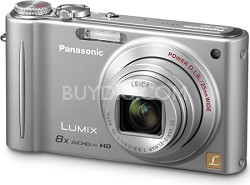 DMC-ZR3S LUMIX 14.1 MP Digital Camera with 10x Intelligent Zoom (Silver)