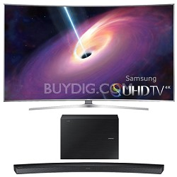UN65JS9500 - 65-Inch Curved 4K 120hz SUHD 3D LED TV w/ HW-J6000 Soundbar Bundle