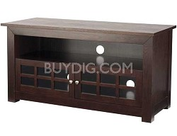 "BFV146 - Hardwood 3-Shelf A/V Cabinet for TVs up to 46"" (Chocolate Finish)"