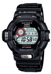 GW9200-1 - Men's G-Shock RISEMAN Atomic Solar Multi-Band Watch, Black Resin