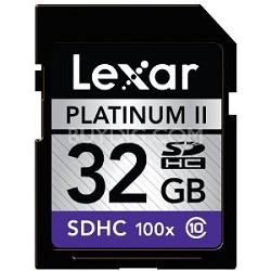 Platinum II 32 GB Class 10 SD/SDHC Flash Memory Card LSD32GBSBNA100