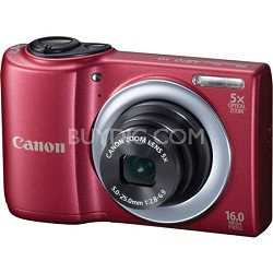 PowerShot A810 16MP Red Digital Camera w/ 5x Zoom & 720p HD Video