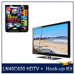 "LN40C650 - 40"" HDTV + High-performance HDTV Hook-up & Maintenance Kit"