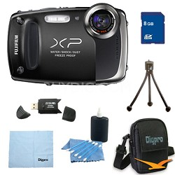 Finepix XP50 14MP CMOS Digital Camera 8 GB Bundle (Black)