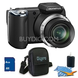 4 GB Kit SP-620UZ 16 MP 3-inch LCD Black Digital Camera - Black