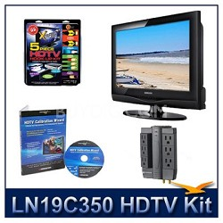 LN19C350 - HDTV + High-performance Hook-up Kit + Power Protection + Calibration