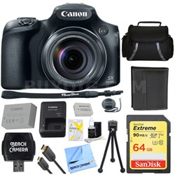 PowerShot SX60 HS Digital Camera 32GB Ultimate Bundle