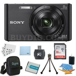 DSC-W830 Cyber-shot Black Digital Camera Bundle