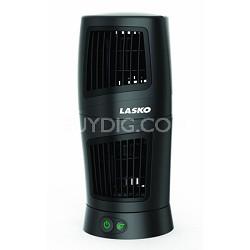 4911 11.85-Inch Twist-Top Tower Desk Fan - Black