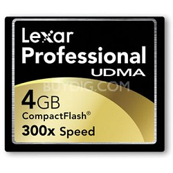 4 GB Professional UDMA 300X CompactFlash Card