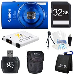 PowerShot ELPH 150 IS 20MP 10x Opt Zoom Digital Camera Blue Kit