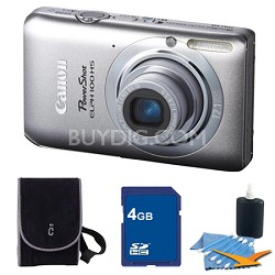 PowerShot ELPH 100 HS Silver Digital Camera 4GB Bundle