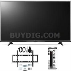 55UH6150 55-Inch 4K UHD Smart TV with webOS 3.0 Slim Flat Wall Mount Bundle