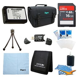 Loaded Value 16GB Card and NP-FW50 Battery Kit for Sony NEX-5N, NEX-7