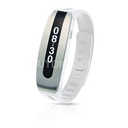 GOLIFE Care Smart Fitness Band (Silver/White)