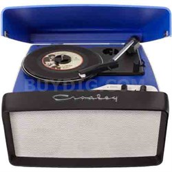 Collegiate Portable USB Turntable with Built-In Speakers CR6010A-BL (Blue)