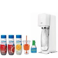 Source Home Soda Maker Starter Kit, White with Soda Maker Bundle