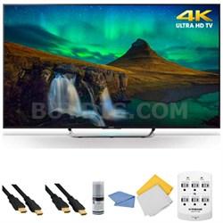XBR-65X850C - 65-Inch 3D 4K Ultra HD Smart Android LED HDTV + Hookup Kit