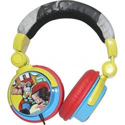 Marvel Comics Vintage Print DJ-Style Headphones - Thor