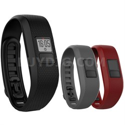 vivofit 3 Activity Tracker - X-Large Fit - Black with 3 XL Accessory Bands
