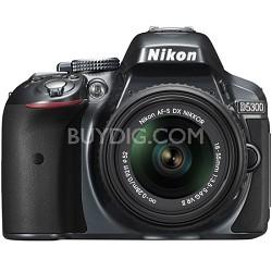 D5300 DX-Format Digital SLR Camera Kit w/ 18-55mm DX VR II Lens - Grey