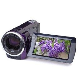 GZ-E10RUS HD Everio 1080p 40xZoom f1.8 (Violet) - Refurbished w/ 90 Day Warranty