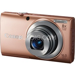 Powershot A4000 IS 16MP Pink Digital Camera 8x Optical Zoom 3 inch LCD