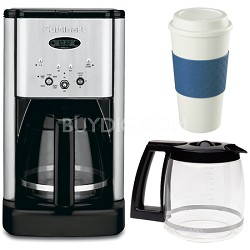 DCC-1200 Brew Central 12 Cup Coffeemaker Bonus Carafe & 16 Oz. Mug Bundle