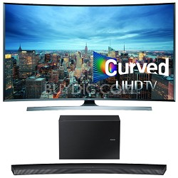 UN78JU7500 - 78-Inch 2160p 3D Curved 4K UHD Smart TV w/ HW-J7500 Soundbar Bundle