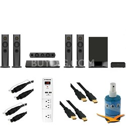 1200W 5.1ch Blu-Ray Home Theater System Plus Hook-Up Bundle - BDV-N7200W