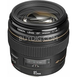 EF 85mm f/1.8 USM Medium Telephoto Lens for Canon SLR Cameras Refurbished