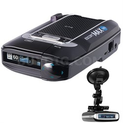 Max 360 Radar Detector with Suction Mount Bracket