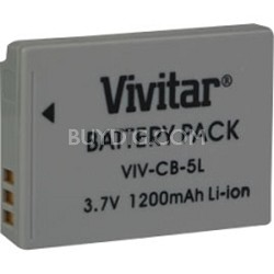 VIV-CB-5L Replacement / Extra Battery Pack For Canon NB5L