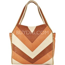 Grayson Shoulder Bag - Cognac Multi