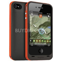 Juice Pack Plus Rechargeable Battery and Case Plus Outdoor for iPhone4 (Orange)