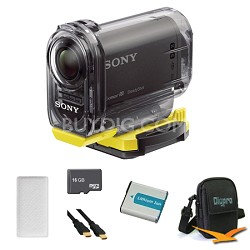 HDR-AS10/B Compact POV HD Action Camera Anti Fog Bundle