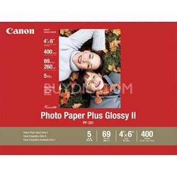 "Photo Paper Plus Glossy II 4"" X 6"" - 400 Sheets"