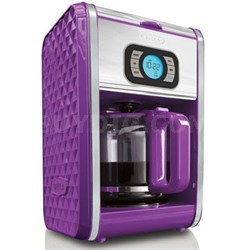 Bella Diamonds Programmable Coffee Maker in Purple - 13926