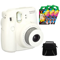 Instax 8 Color Instax Mini 8 Instant Camera with 3x 10packs of Film and Case